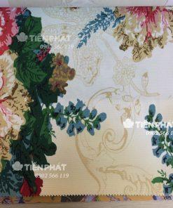 Mẫu Vải Canvas - Hoa Văn TP03