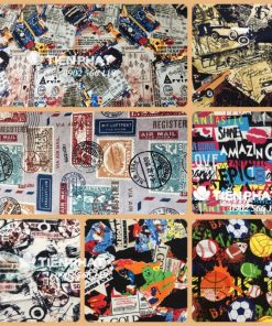 Mẫu Vải Canvas - Hoa Văn TP08