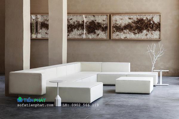 Bộ sofa văn phòng chữ L cao cấp