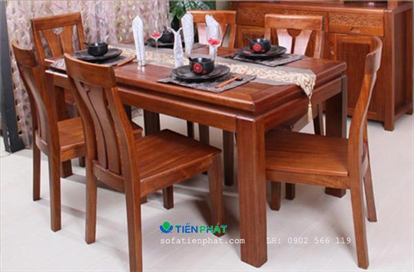 Bộ bàn ăn gỗ hợp mệnh Thổ