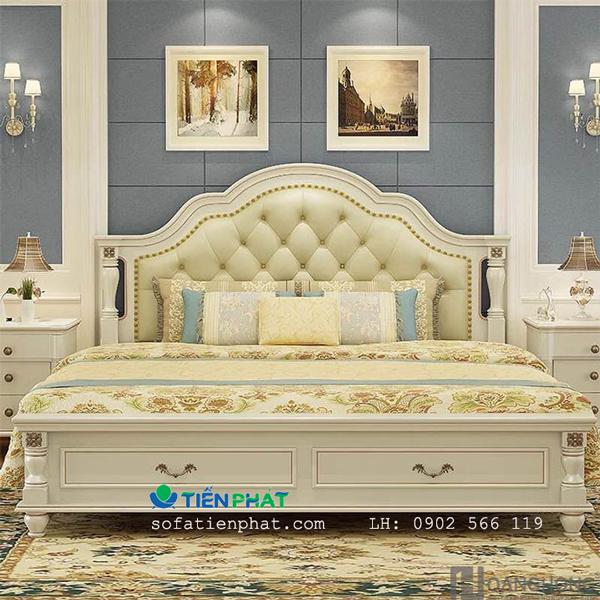 Dòng giường ngủ bọc da nhập khẩu phong cách Châu Âu hiện đại rất được ưa chuộng trong thời gian gần đây.