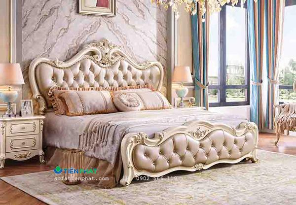 Mẫu giường ngủ tân cổ điển hoàng gia