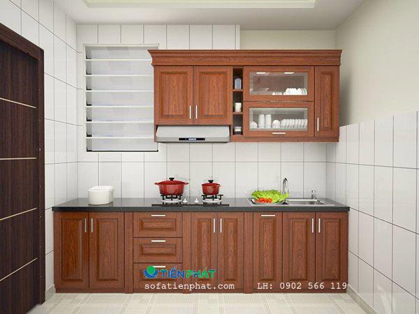 Mẫu tủ bếp gỗ chữ i đẹp