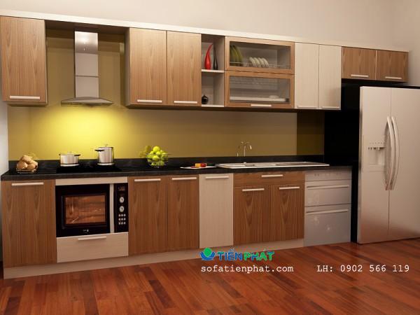 Kiểu tủ bếp có bồn rửa hiện đại